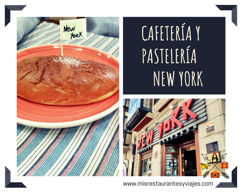 Cafetería y pastelería New York en Bilbao. Bollo de mantequilla.
